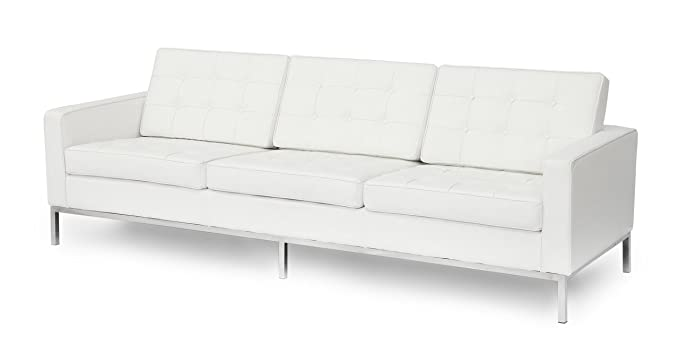 Amazon.com: Kardiel Florence Knoll Style Sofa 3 Seat, Pure ...