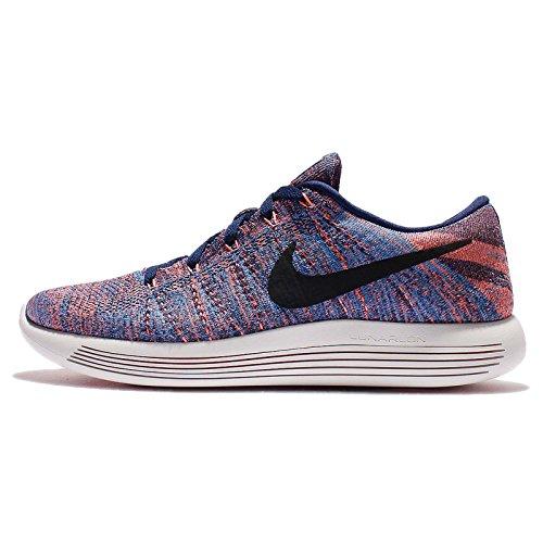 Nike Heren Lunarepic Lage Flyknit Loopschoenen Loyale Blauwe Zwarte Gloed 400