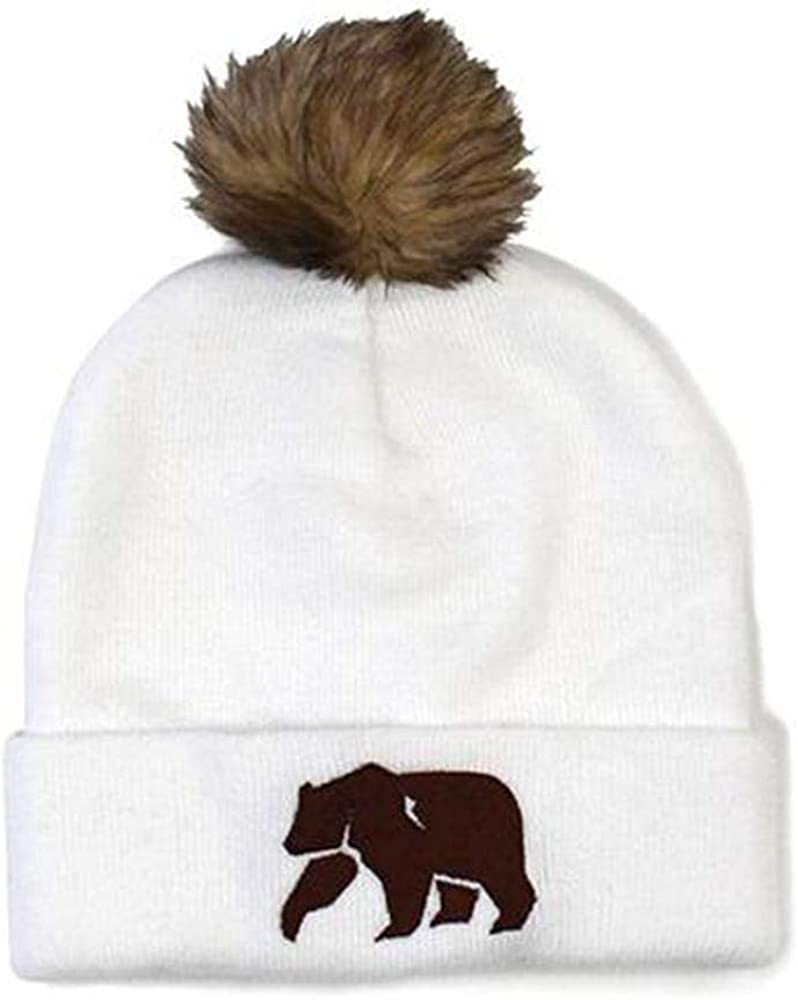 The Normal Brand Women/'s Pom Beanie Charcoal One Size