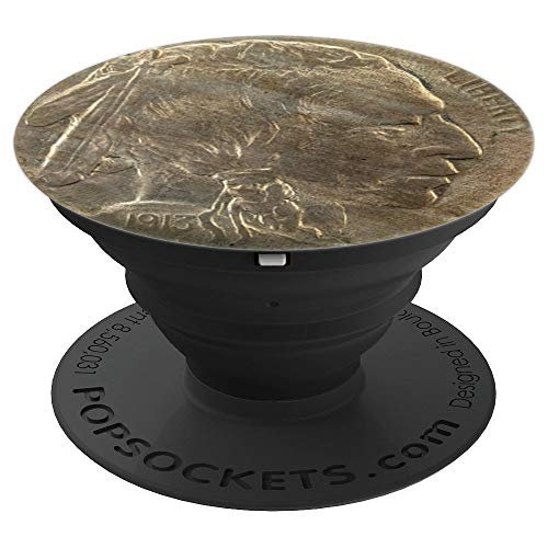 Indian Head Nickel Buffalo Nickel 5 Cent Coin USA - PopSockets Grip and Stand for Phones and Tablets (5 Cent Coin With Indian Head And Buffalo)