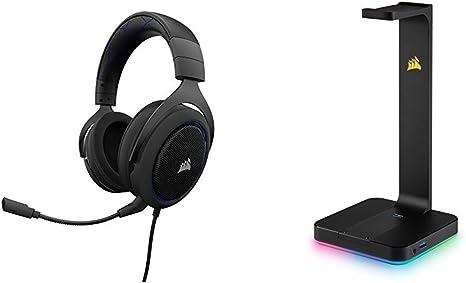 Corsair ST100 RGB Premium, Soporte de Auriculares, Negro
