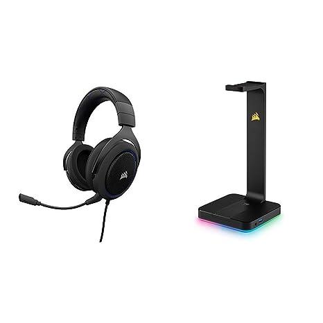 Corsair HS50 Stereo - Auriculares gaming con micrófono desmontable (para PC/ PS4/Xbox