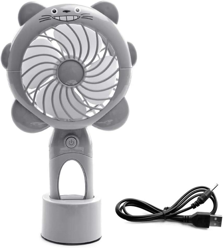 Mini Portable Handheld Desk Fan Cooler Cooling USB Rechargeable LED Light Fans