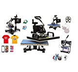Image of Ceny 5 In1 Digital Heat Press Machine 12 X 15 Inch Swing Away Heat Press Transfer Sublimation DIY T-Shirt Mug Hat Plate T-shirt Press Machine with Clamshell Design (5 In1 1250W)