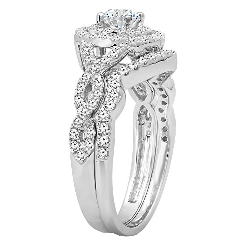 DazzlingRock Collection 100 Carat ctw 14K Gold White Diamond