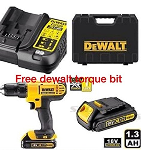 DEWALT 18V CORDLESS LITHIUM LXT COMBI DRILL,DRILL DRIVER WITH HAMMER ACTION FACILITY...