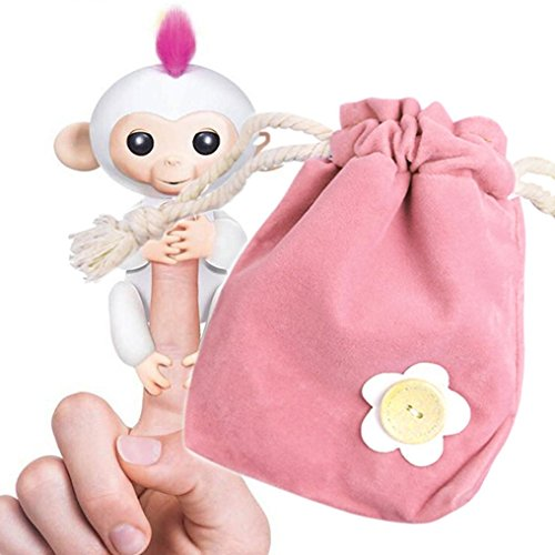JACKY Monkey Interactive Store Rug Dolls Pink Play Portable for Toys Kids Bag Monkey Green Storage Baby Box Little Baby ffxwaR5r