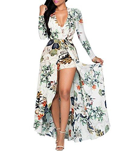 Print Chiffon Maxi Dress - 1