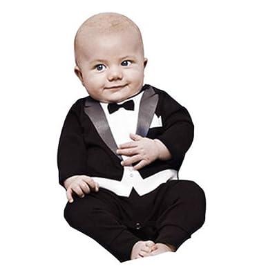 Amazon.com Newborn Baby Boy Romper Rompers Tuxedo All-in-one Suit Bowtie Bodysuit Clothing  sc 1 st  Amazon.com & Amazon.com: Newborn Baby Boy Romper Rompers Tuxedo All-in-one Suit ...