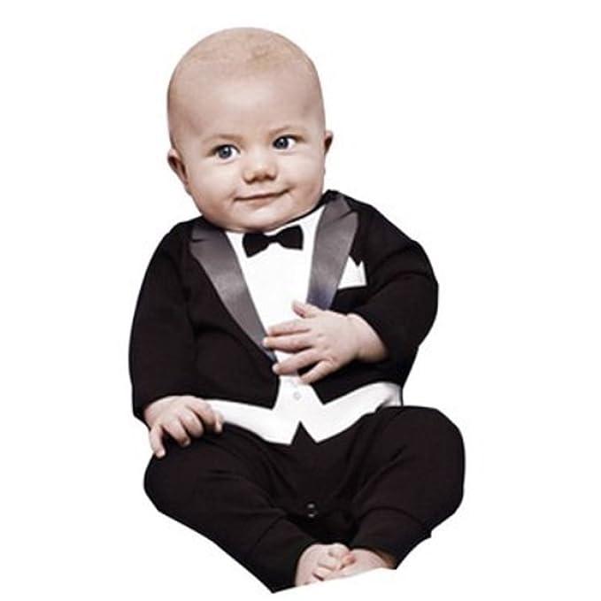 amazon com newborn baby boy romper rompers tuxedo all in one suit