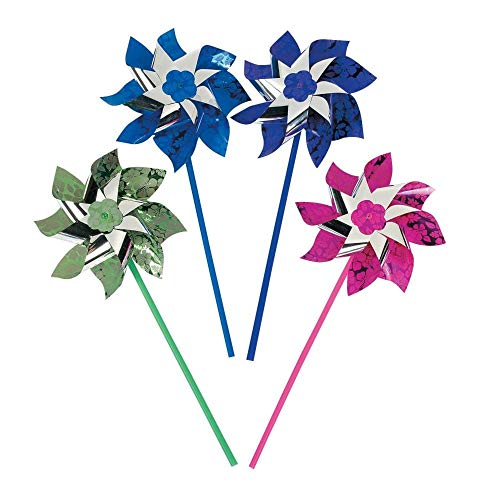 Fun Express Paradise Party PINWHEELS (1 Dozen) - Bulk Children, Kids, Game -