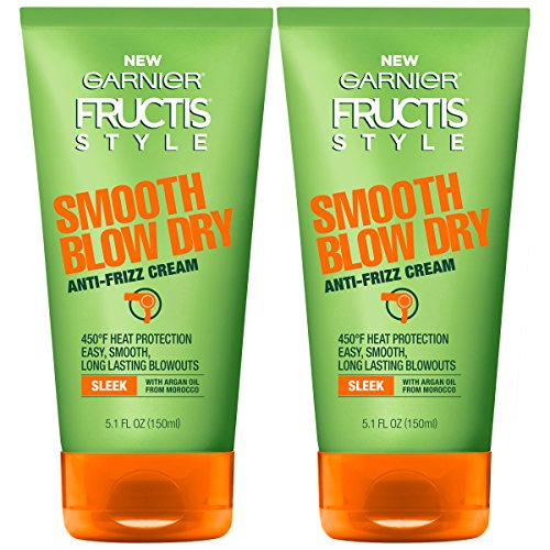 Garnier Hair Care Fructis Style Smooth Blow Dry Anti-Frizz Cream, 2 Count