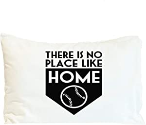 Style In Print Pillow Case There is No Place Like Home Sports Baseball Sports Polyester Home Decor Bed Pillow Covers Design Only 30x20 Inches