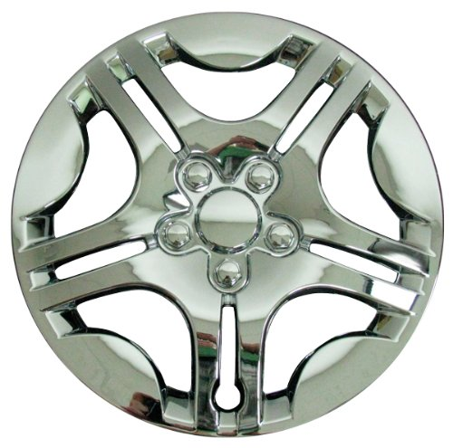 CCI IWC428-15C 15 Inch Clip On Chrome Finish Hubcaps - Pack of 4