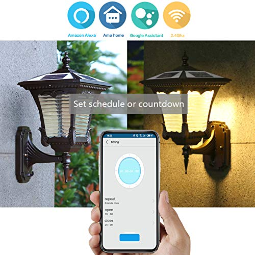 Outdoor Smart Plug Waterproof 2.4G WiFi Remote Control Switch Outlet (1 in 4 out) Compatible Work with Alexa Google Home Assistant by Smart Phone Smart Socket Indoor Outdoor Use by BellaElegance (Image #5)
