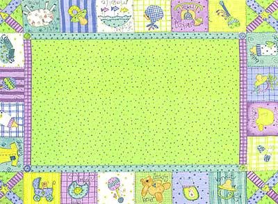 44'' Wide Flannel Ador-label Panel Lime Fabric By The Panel (Label Flannel)
