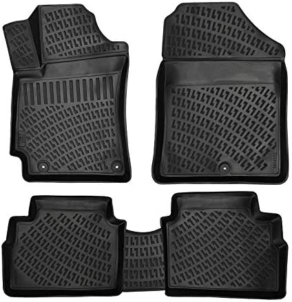 Croc Liner Floor Mats Front and Rear All Weather Custom Fit Floor Liner Compatible with Hyundai Elantra (2017-2020)