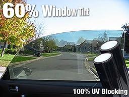 Complete Car Window Wrap 60% Smoke Tint Glass Vinyl Film 30\