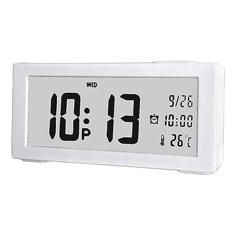 Dewanxin Temporizador Baño con Ventosa Digital Reloj Humedad Temperatura con Gran Pantalla LCD Impermeable Termómetro (