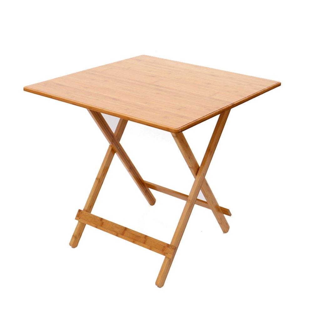 FEIFEI 折りたたみ正方形のテーブル、竹のアートポータブルピクニックテーブル、バーベキューテーブル、学ぶテーブル ( サイズ さいず : 70*70センチメートル ) B07C7T64W3 70*70センチメートル 70*70センチメートル