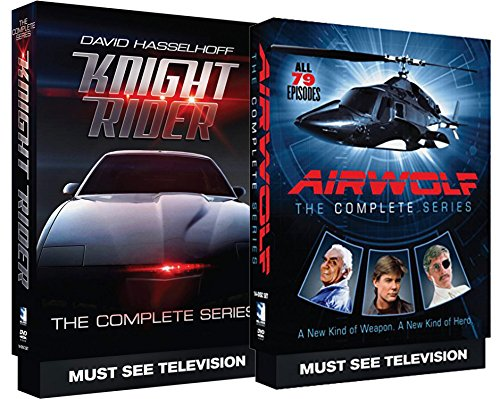 Airwolf The Complete Series + Knight Rider The Complete Series TV Bundle (Complete Series Night Rider)