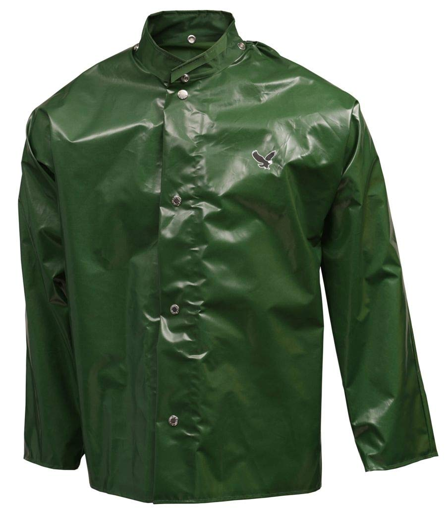 Size XL Tingley Unisex Green Polyurethane Rain Jacket J22208 32 Jacket Length Fits Chest Size 48 to 50