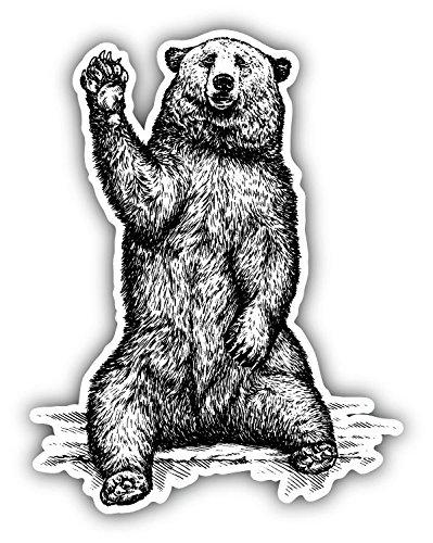 Hi Five Bear Sketch Vinyl Decal Bumper Sticker 4'' X ()
