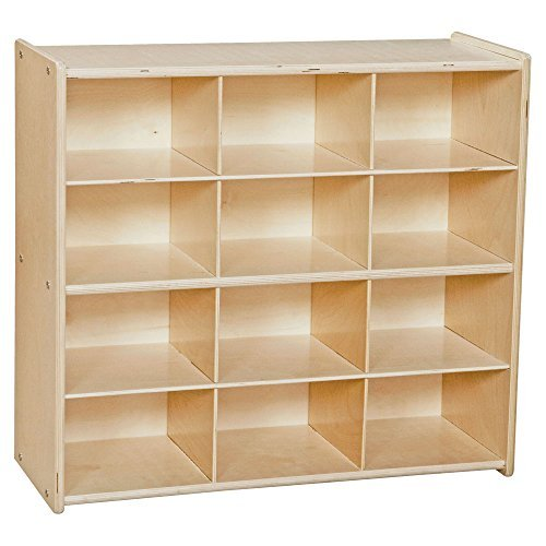 Baltic Birch 12 Cubby Storage (Contender 12-Cubby Wood Storage Unit)