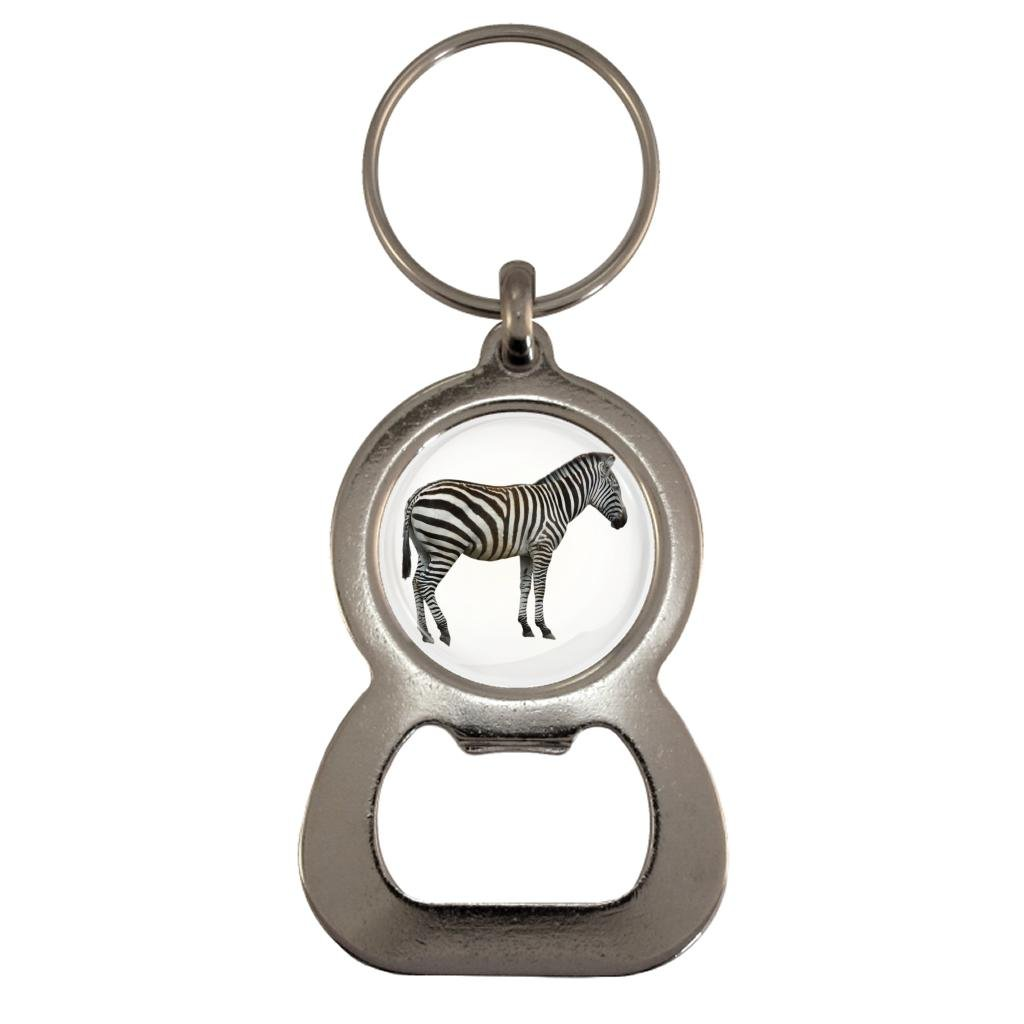 Zebra Image Design Metal Bottle Opener Keyring