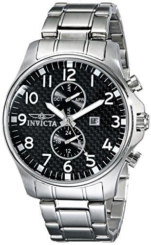 Invicta Herren-Armbanduhr XL Analog Quarz Edelstahl 0379