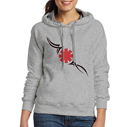 DETO Women's Red Hot Chili Peppers Hoodie Ash Size -