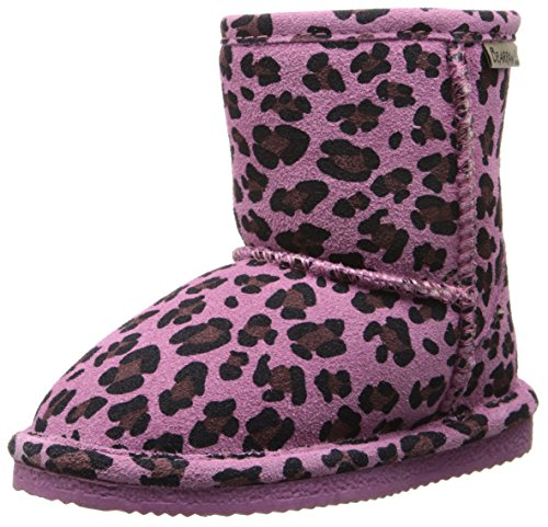 BEARPAW Eva Boot (Toddler/Little Kid/Big Kid),Pink Leopard/Chocolate,4 M US Big Kid (4 Leopard)