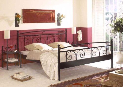 Denise Black Various Sizes - Metal Frame - Black Metal Bed, Metal ... Schlafzimmer Einrichten Metallbett