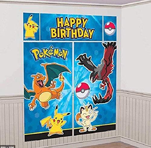 amscan Pokemon Pikachu Scene Setters Wall Decorating Kit