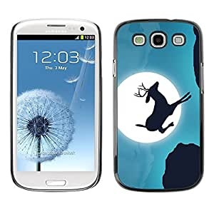 GagaDesign Phone Accessories: Hard Case Cover for Samsung Galaxy S3 - Moonlight Jumping Stag