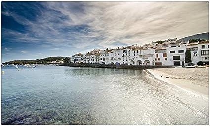 España mar casas cielo ciudades Cadaques viaje sitios postal Post tarjeta: Amazon.es: Oficina y papelería