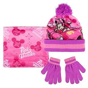 fd3194c29e718 Disney Minnie Mouse Roadster 3pcs Kids Winter Set Beanie Hat