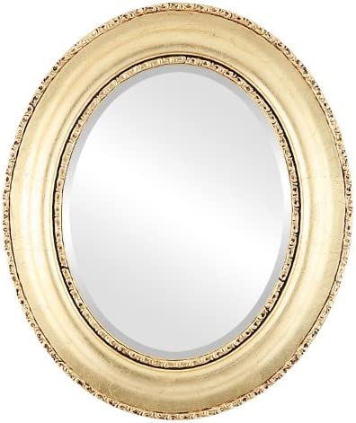 Oval Beveled Wall Mirror for Home Decor – Somerset Style – Gold Leaf – 35×45 Outside Dimensions