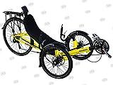 Performer JC70 Recumbent Trike (27S, FRP seat) (Yellow)