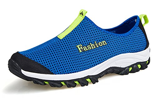 Slip Athletic Fangsto Blue Adults Unisex Shoes Running Mesh Breathable Ons HwT0wqP