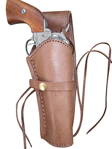 Western Express Leather Gun Holster for .38 caliber and .357 caliber revolvers (Right Handed) Smooth Brown -