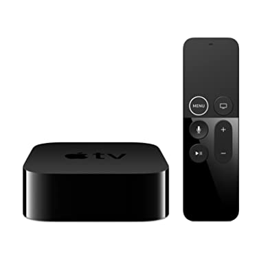 Apple TV 4K HD 32GB Streaming Media Player HDMI with Dolby Digital and Voice search by Asking the Siri Remote, Black, MQD22LL/A-32G (Refurbished)