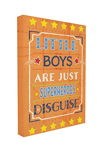 (The Kids Room by Stupell Little Boys Are Just Superheroes In Disguise Textual Canvas Art, 16 x 1.5 x 20, Proudly Made in)