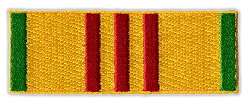 Motorcycle Jacket Embroidered Patch - Vietnam War Service Ribbon Bar - Vest, Cut, Leathers - 3.5