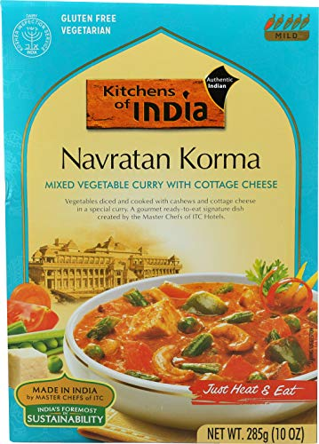 Kitchens of India Ready to Eat Navratan Korma, Mixed Vegetable Curry with Cottage Cheese, 10-Ounces (Pack of 6)