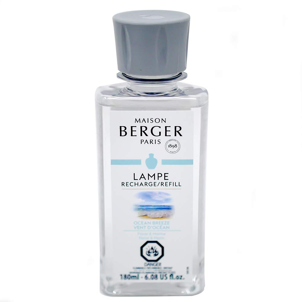 Maison Berger | Lamp Berger Model Curve | Home Fragrance Diffuser | Purifying and Perfuming | 5x3x3.5 inches | Made in France | Includes a 6.08 Fl. oz Fragrance Bottle of Ocean Breeze (Black) by MAISON BERGER (Image #2)