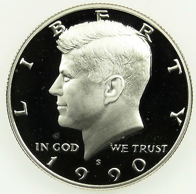 1990 S Gem Proof Kennedy Half Dollar US Coin Half Dollar Uncirculated US Mint (Kennedy Half Dollar Gem Proof)