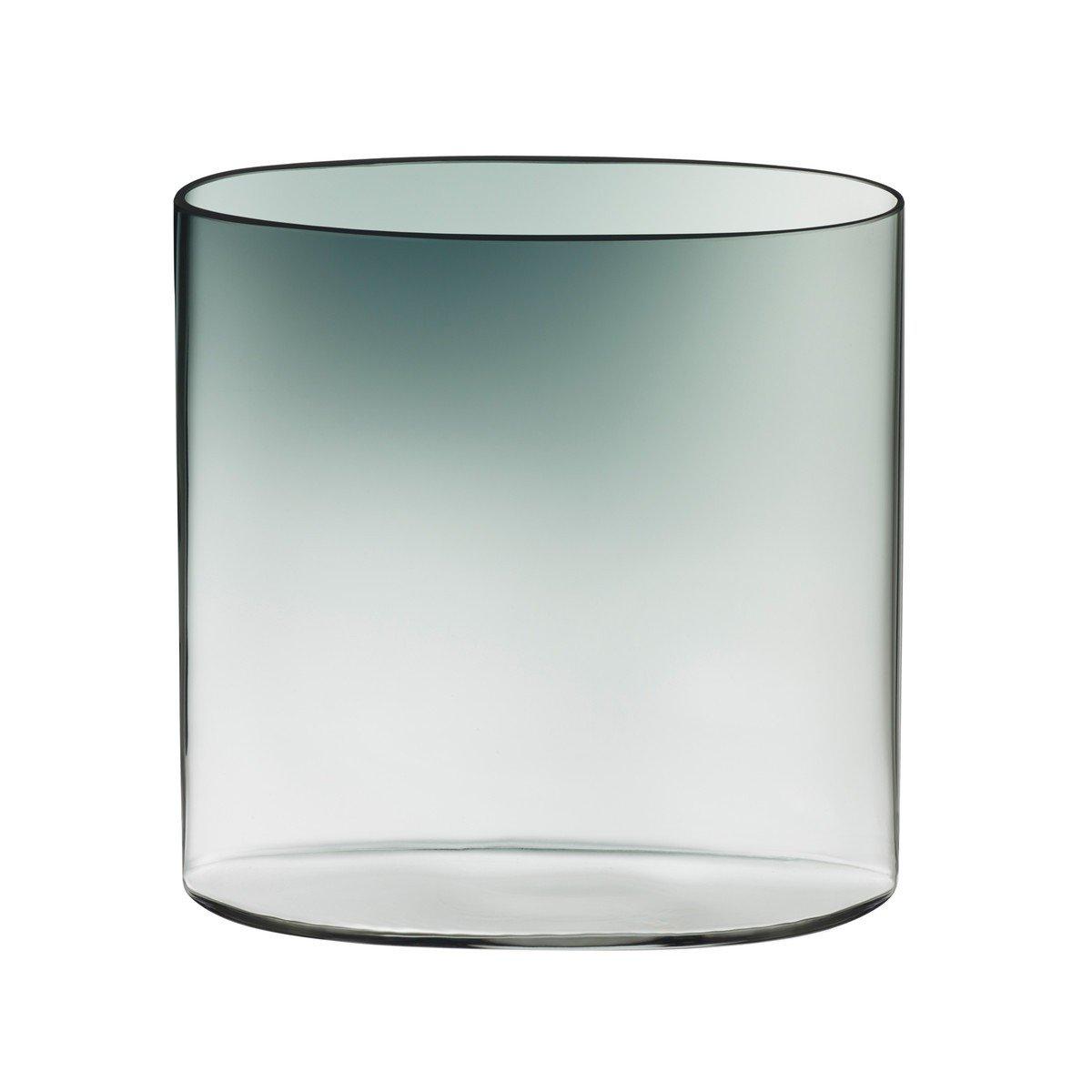 Iittala 1015379 Ovalis Vase 16 cm, grau klar