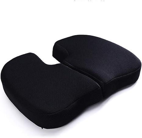 Ylcj Office Chair Cushion Memory Foam Coccyx Sciatica Back Pain Corrector Posture Black 45 X 37 X 7 Cm Amazon De Kuche Haushalt