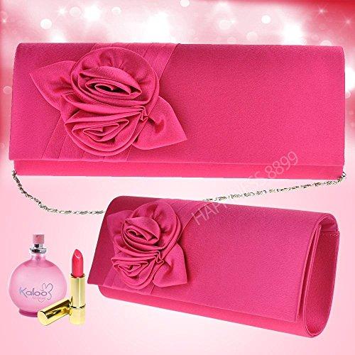 Purse Satin Party Handbag Shoulder Pattern Wocharm Pink Womens Wedding Bags Bag Evening Ladies Hot Bouquet Prom Clutch Girly Rose aqt8q6